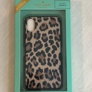 Authentic Kate Spade Leopard IPhone X phone case!